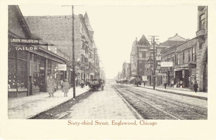 englewood chicago   postcard-chicago-63rd-street-englewood-store-signs-wagons-1908.jpg