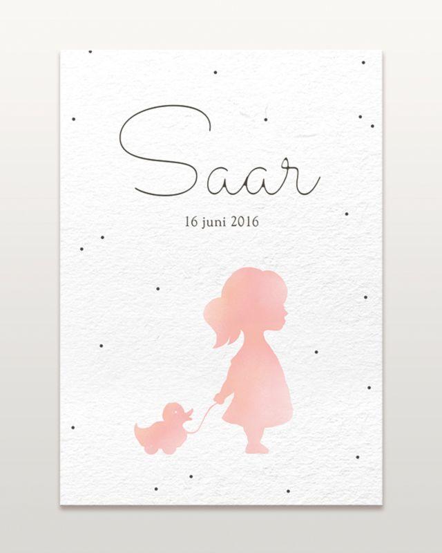 Geboortekaartje ontwerp Saar #geboortekaartjes #geboortekaartje #zwanger #kids #baby #ontwerp #illustraties #origineel #kaartjes #schattig #hip