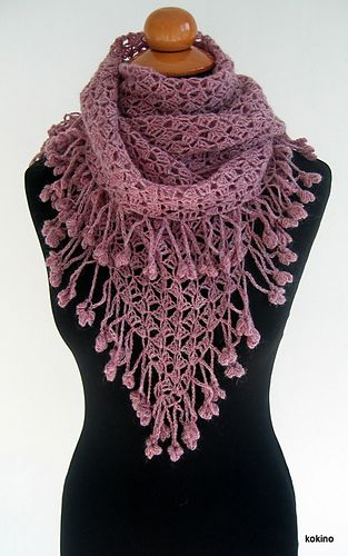 Oct26 Looking for a shawl pattern, preferably in crochet, since I already have a WIP in lace knitting, I came up with this. The written instructions are kind of tricky to understand (I always prefe...