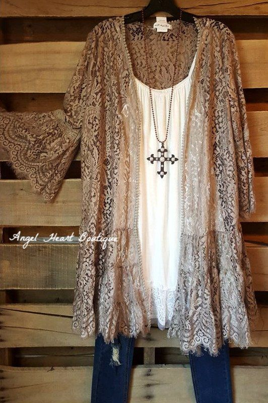 Lace In Your Arms Cardigan - Mocha