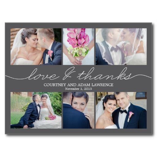 Lovely Writing Wedding Thank You Card