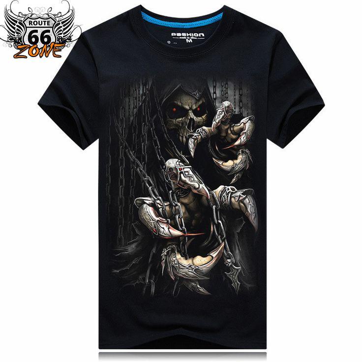 Reaper Men's Biker Motorcycle Tshirt