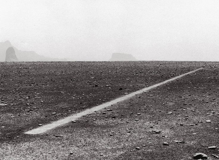Richard Long: Heaven and Earth - Richard Long, Dusty Boots Line, 1988 from http://LondonTown.com