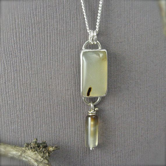 Montana Agate Necklace  Limited Time Offering by lynnbowes on Etsy, $90.00