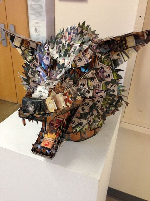 Magic: the Gathering - Crafty[Source:MTG-Realm.Tumblr]    Posted by Reddit User Packwhore - MTG card craft on display in his school's art program hall.