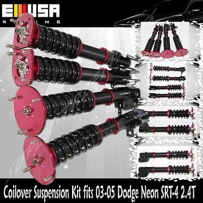 awesome Coilover Suspension Lowering Kit fits 2003-2005 Dodge Neon SRT-4 Sedan 4D RED - For Sale View more at http://shipperscentral.com/wp/product/coilover-suspension-lowering-kit-fits-2003-2005-dodge-neon-srt-4-sedan-4d-red-for-sale/