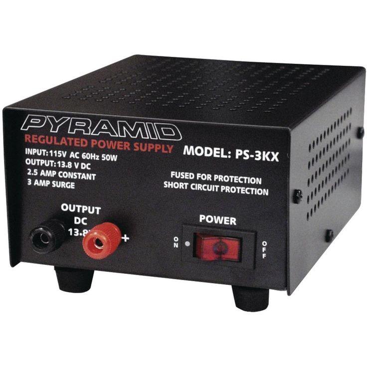 Pyramid(R) Car Audio PS3KX 2.5-Amp Power Supply