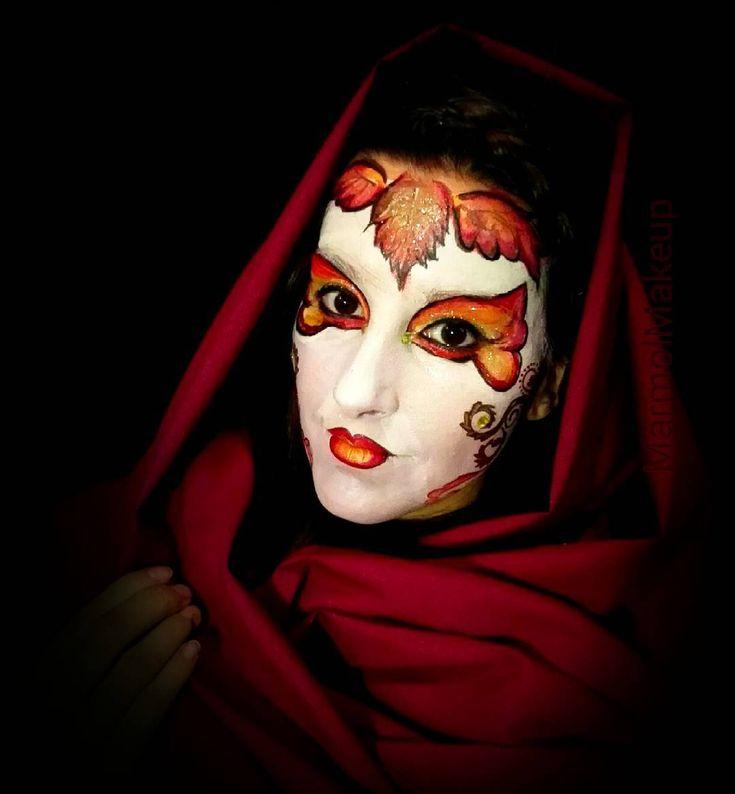 #fairymakeup #fairy #hada #leaves #hojas #ninfa #otoño #fall #autumn #venecia #geisha #inspiration #mascara #mask #venetian #fantasymakeup #facepaint #lentejuelas #onestroke #swirlsandcurls #pintacaras #maquillajeartistico #makeup #maquillaje #bodypaint #caracterizacion #halloween #carnaval #facepaintersofinstagram #madrid