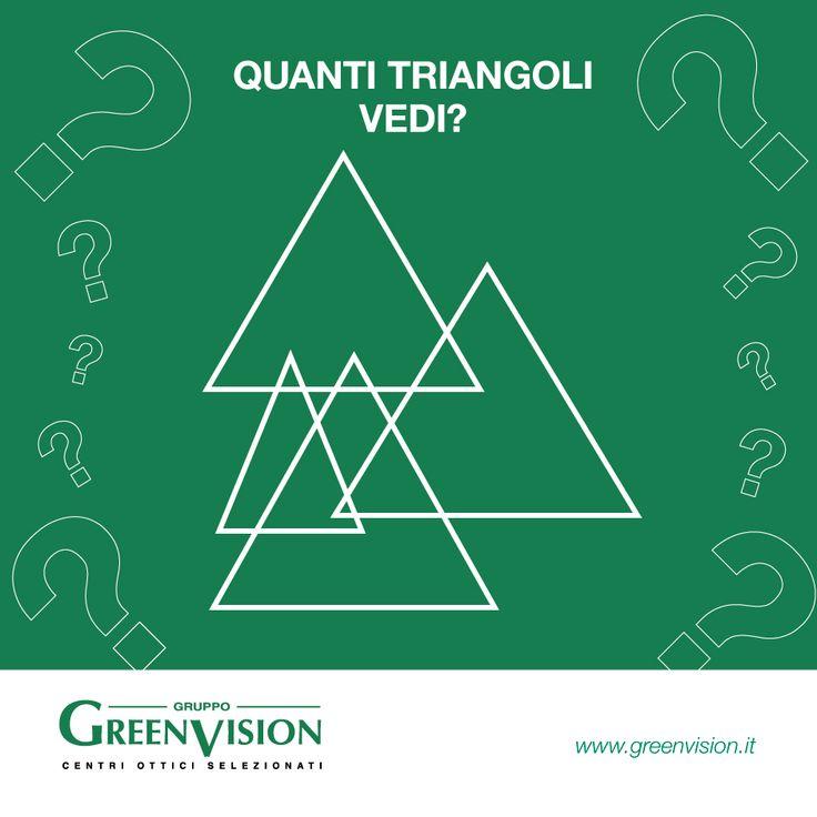 Quanti sono i triangoli in questa immagine? #GreenVisionQuiz