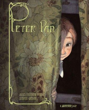 Peter Pan-- Quentin Greban, James Matthew Barrie; Varsta: 5-8 ani Linistea din casa lui Wendy si a fratilor ei este intrerupta de aparitia lui Peter Pan, baietelul ce refuza sa creasca. Alaturi de acesta, copiii invata sa zboare, o cunosc pe Clopotica si traiesc aventura vietii lor pe taramul Tarii de Nicaieri. Expresivitatea personajelor  este redata de ilustratiile deosebite ce te poarta in lumea lui Peter Pan.