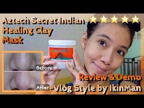 Aztec Secret Indian Healing Clay Mask Review & Demo -Vlog Style | IkinMan