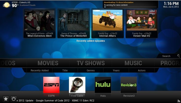 XBMC- Computer Media Player Software