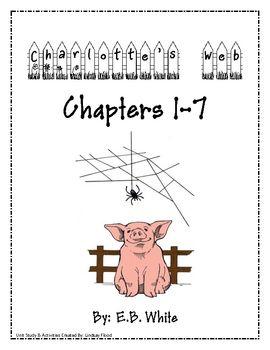 Charlotte's Web - Chapters 1 - 7 Packet - Primary Polka Dots - TeachersPayTeachers.com