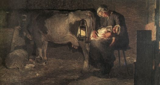 Le due madri, 1889, Olio su tela, Milano, Civica Galleria d'Arte Moderna