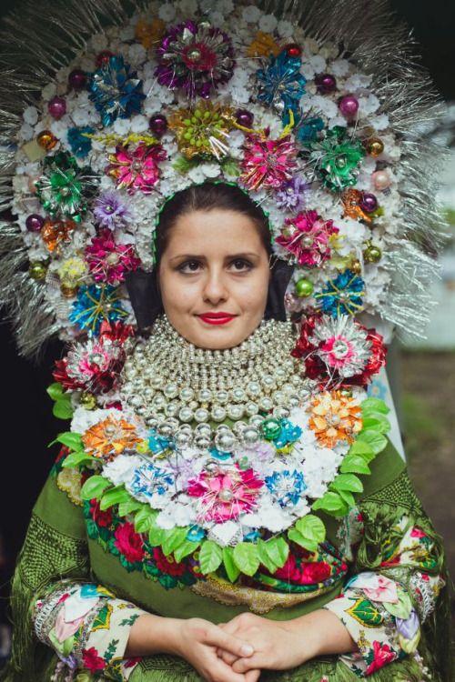 Slovak folk costume from village Selenča, Vojvodina province, Northern Serbia.