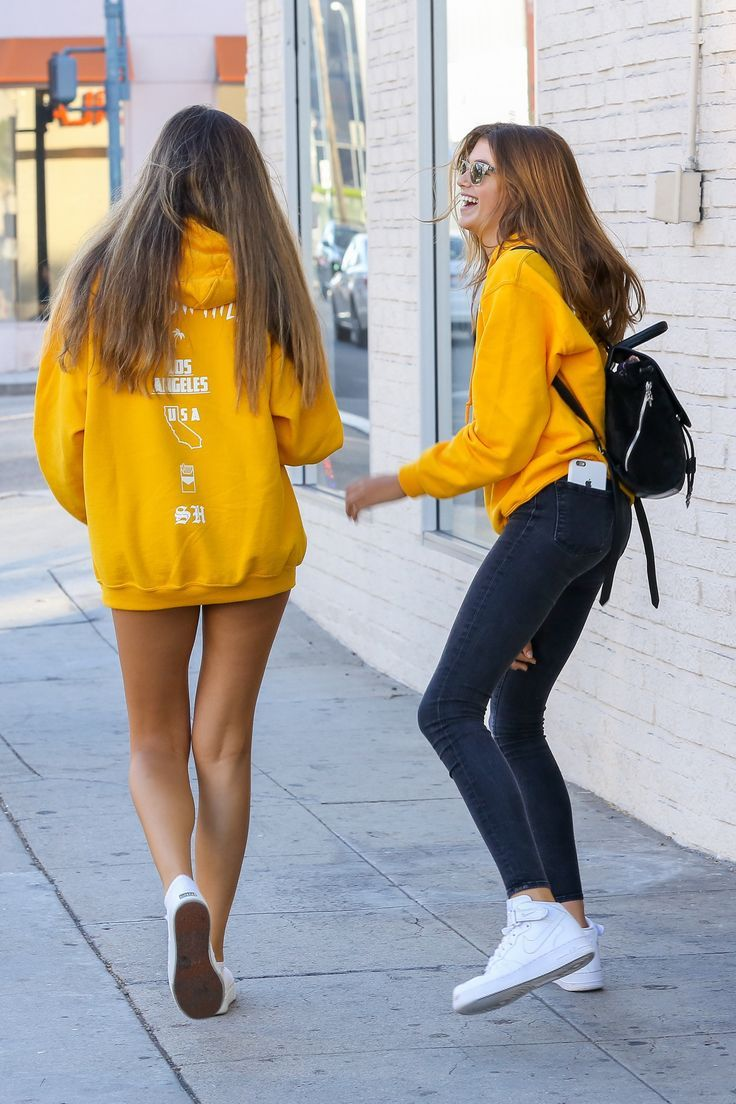 """kaiafashion: """"Kaia Gerber out in Beverly Hills 08/18/2016 Her sweater here! Her phone case here! Her jeans here! Her sneakers here! """""""