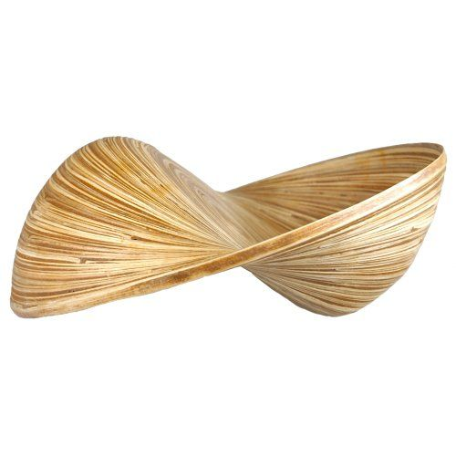 Wohnaccessoire Wohndeko Dekorationsartikel Obstschale – Holz – Ø32cm (braun)