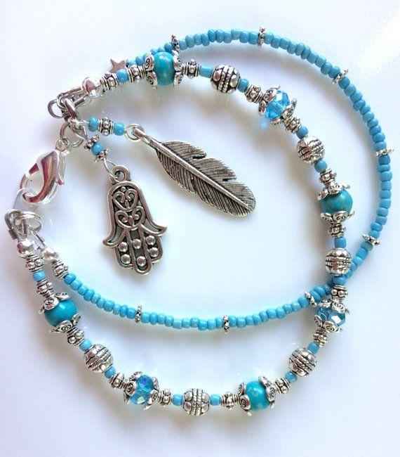 Gift for Her Turquoise Bracelet Blue Bead Bracelet by myVardo