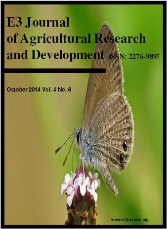 E3 Journal of Agricultural Research and Development - Indexed by EIJASR E3 Journal of Agricultural Research and Development is a new research journal which publishes the most exciting, cutting-edge research in various areas of Agricultural Research and Development. It is also aimed at providing the most rapid turn-around time possible for reviewing and publishing.  For more details : http://www.eijasr.com/indexing-journals/111/E3-Journal-of-Agricultural-Research-and-Development.html