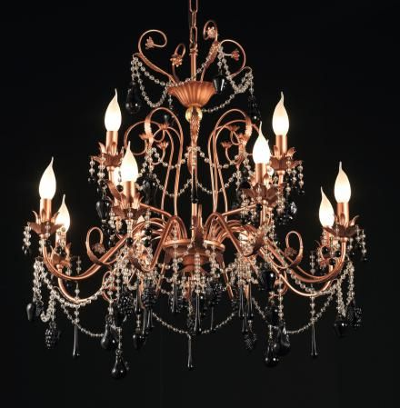 Chandelier with Swarovski and Murano glass
