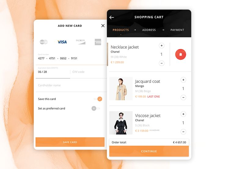 shopping cart & payment (iOS app) by kohutpiotr