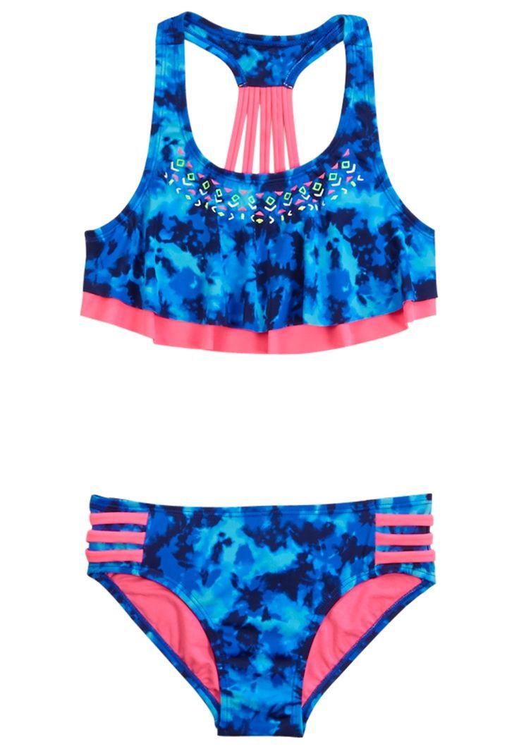 Dye Effect Flounce Bikini Swimsuit (original price, $32.90) available at #Justice