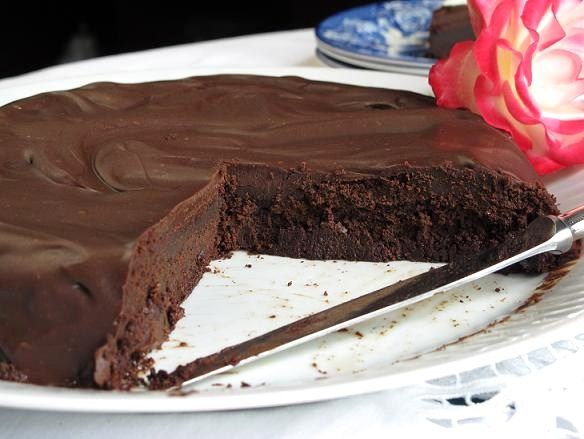 Torta-postre de chocolate para celíacos