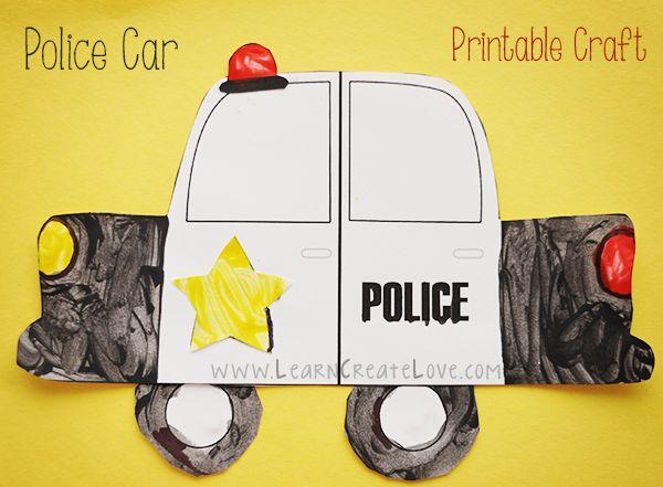 Printable Police Car Craft   LearnCreateLove.com