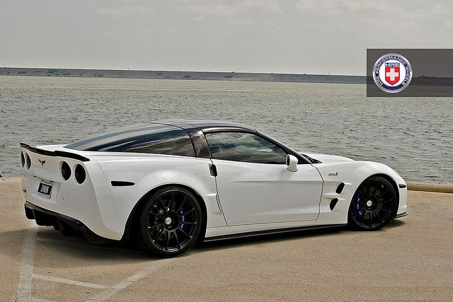 Chevrolet Corvette C6 ZR1 White HRE P43S Satin Black by HRE Wheels