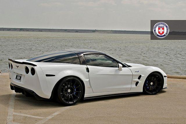 Chevrolet Corvette C6 ZR1 White HRE P43S Satin Black by HRE Wheels