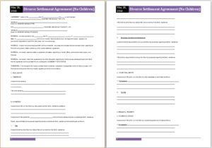 Divorce settlement agreement DOWNLOAD at http://www.templateinn.com/36-agreement-templates-for-everyone/