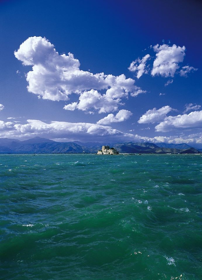 Windy day ~ Bourtzi castle, Nafplio