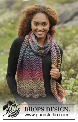 Free pattern, 171-17, Knitted Scarf in Deight