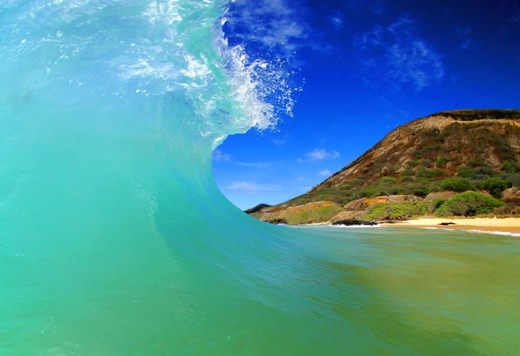 Makena Beach - Maui. Shore break central! Great for skim boarding, body surfing and body boarding...
