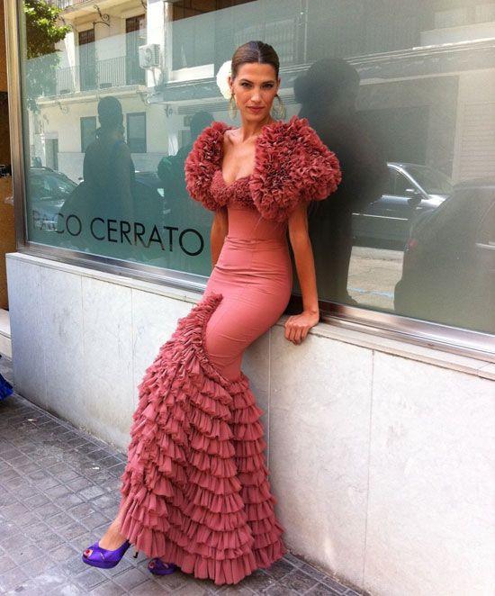 Laura Ponte con vestido de Vicky Martín Berrocal