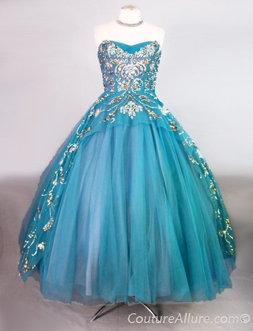 Vintage 50s Ball Gown Party Dress Beaded Tulle http://www.coutureallure.com/collections/frontpage/products/vintage-50s-ball-gown-party-dress-beaded-tulle-small-bust-34#