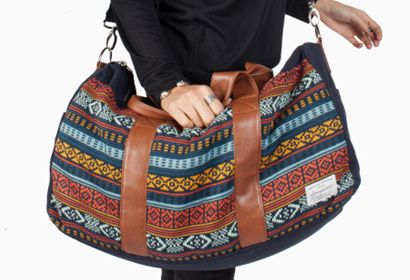 PIKE WEEKEND BAG -  Help your favorite gal get away for the weekend with the stylish Pike Weekend Bag by Krochet Kids. Made by Peruvian artisans, these bags provide a living wage to women in exchange for their handiwork so that they can create a better future for their families.   from Krochet Kids