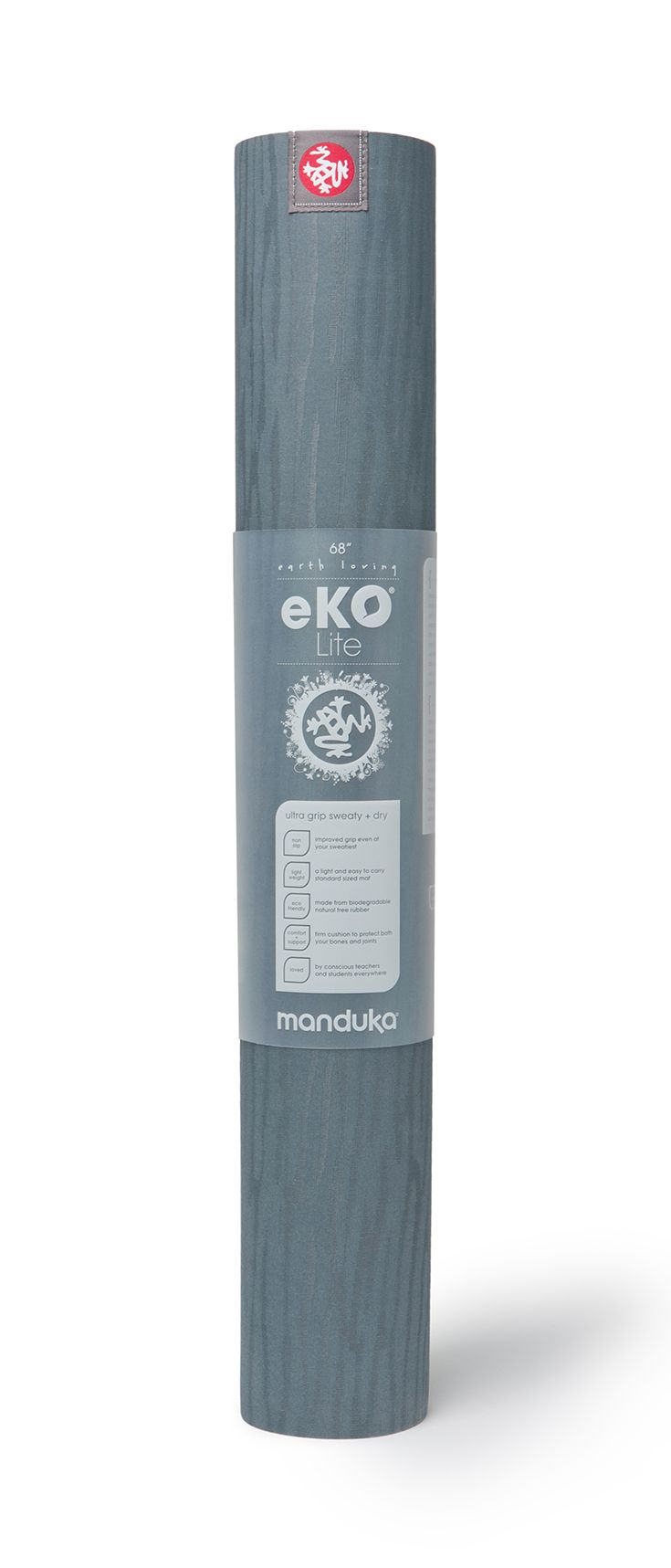 eKOlite Mat in Thunder - provides cushion and support for your practice while protecting the planet.