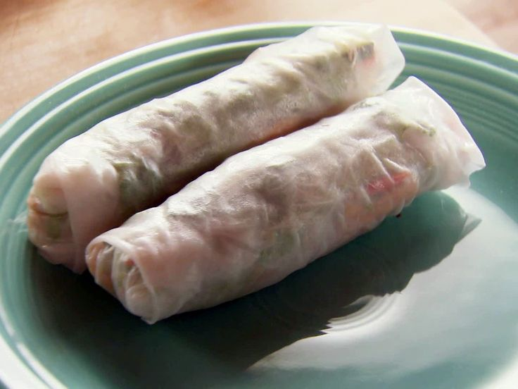 Turkey Spring Rolls Recipe : Ree Drummond : Food Network - FoodNetwork.com I am going to make with eggroll wrappers, they look yummy