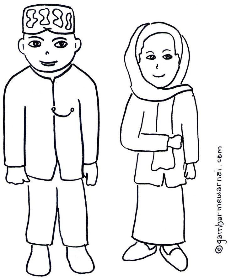 Gambar Mewarnai Pakaian Adat Betawi Dengan Gambar Warna
