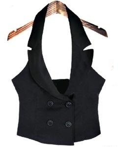 Halter Double Breasted Women Vest -