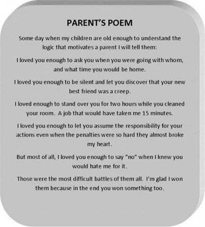 Parents poem