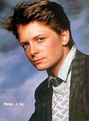 Michael J. Fox, time-travler, werewolf, what a wonderful sight.