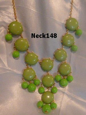 Necklace Green Beaded #Neck148