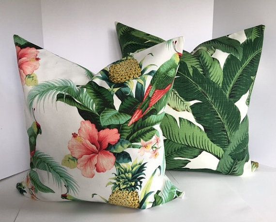 Tommy Bahama Beach and Palms Pillow Cover by PillowLoftHomeDecor