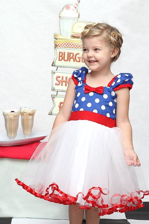 MINNIE MOUSE dress TUTU  Party Dress  in royal blue Polka Dots super twirly  dress 1st Birthday party
