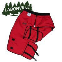 Labonville Full-Wrap Chainsaw Safety Chaps - Orange Ex-Long