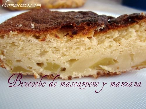 Bizcocho de mascarpone y manzana