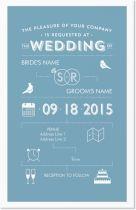 Vistaprint Invitations: Lovebirds