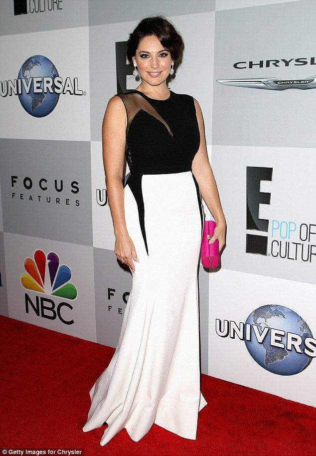 Centre of attention: Kelly Brook pulled out all the stops to remain the centre of attention at the NBCUniversal 2015 Golden Globe Awards Party on Sunday evening
